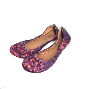 Lucky Brand Purple and Orange Camouflage Flats
